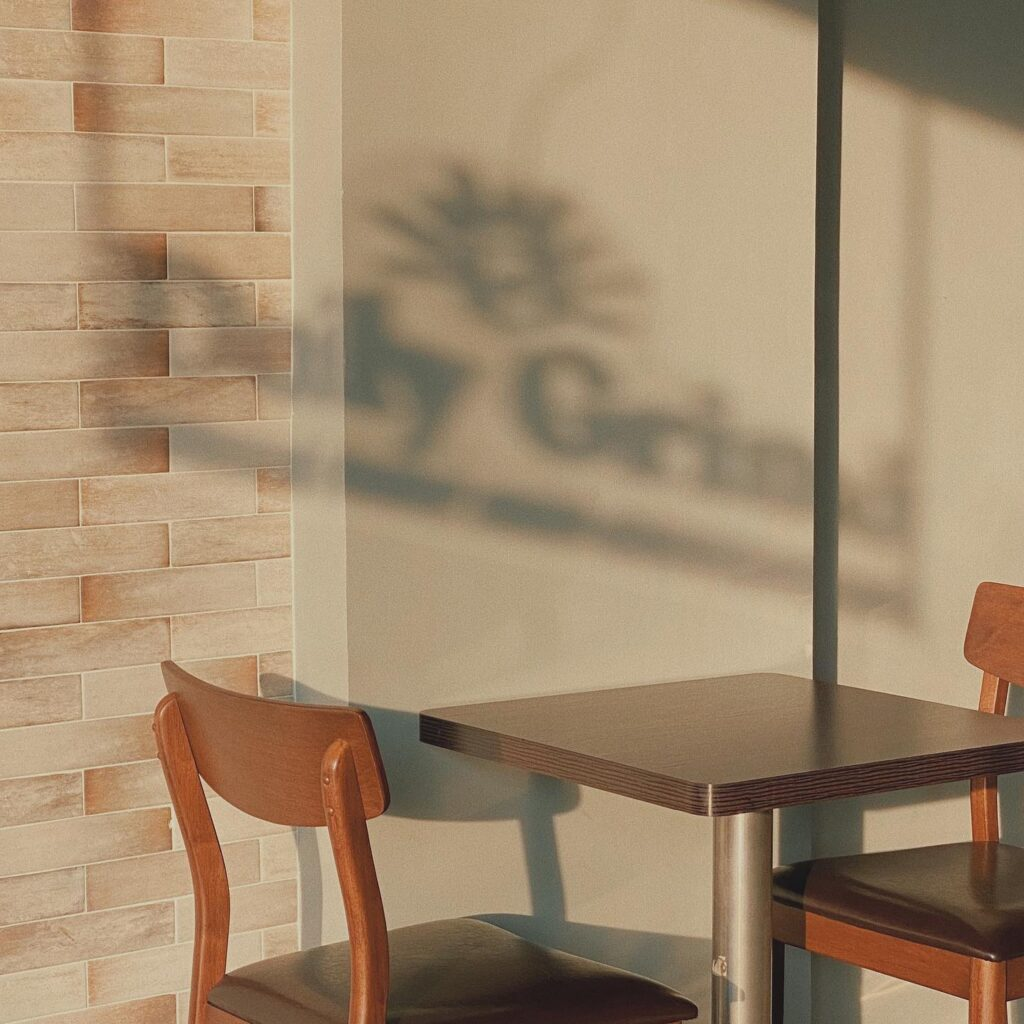 a silhouette shot of one of the best coffee shops nearby, daily grind coffee shop