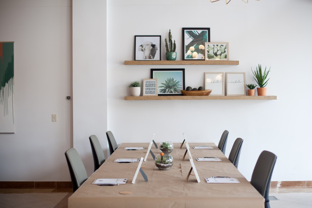 furniture inside small coworking spaces