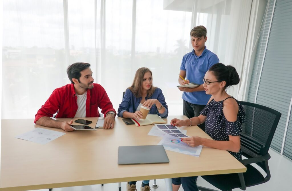 team meeting to discuss strategies